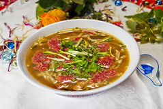 Plate of Chinese Soup Royalty Free Stock Images
