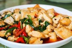 Chinese tofu dish Royalty Free Stock Photo