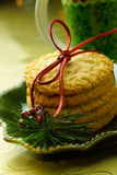 Plate of Chistmas Cookies Stock Images