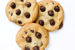 Plate of Chocolate Chip Cookies Royalty Free Stock Photography