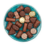 Plate of chocolates Stock Photography