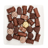 Plate of chocolates Royalty Free Stock Photo