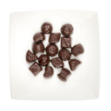 Plate of chocolates Royalty Free Stock Image
