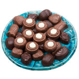 Plate of chocolates Royalty Free Stock Photos
