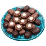 Plate of chocolates Royalty Free Stock Photos