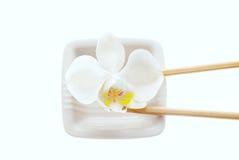 Plate and chopsticks Stock Photos
