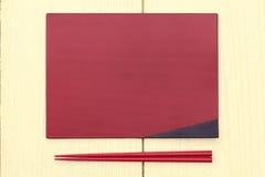 Plate and chopsticks Stock Photo