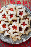 Plate of Christmas cookies Royalty Free Stock Photography