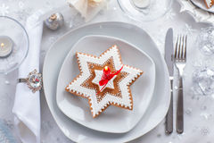 Plate for Christmas evening Royalty Free Stock Photos