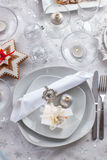 Plate for Christmas evening Stock Image