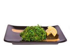 Plate with chuka salad Stock Photos