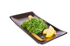 Plate with chuka salad Royalty Free Stock Photos
