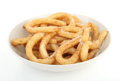 Plate of churros Royalty Free Stock Images
