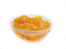 Plate of citrus jam Royalty Free Stock Photo