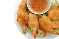 A plate of coconut shrimp Royalty Free Stock Image