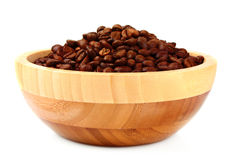 Plate with coffee beans isolated Royalty Free Stock Photography