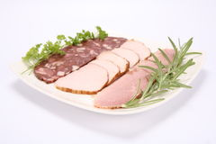 Plate of cold cuts Royalty Free Stock Image