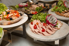 Plate of Cold cuts Royalty Free Stock Photography