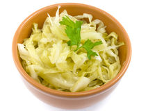 Plate coleslaw Royalty Free Stock Images