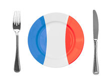 Plate colored in France national colors Royalty Free Stock Photos