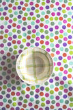 Plate on colorful background Stock Photography