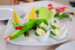 Plate of colorful vegetables Stock Image