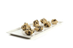 Plate of cookie dough Stock Images