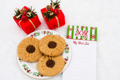 A Plate of Cookies Stock Photography