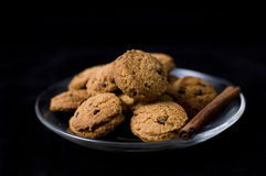 Plate of cookies Royalty Free Stock Images