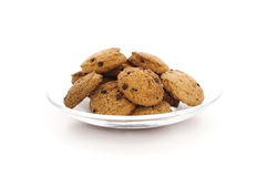 Plate of cookies Royalty Free Stock Photography