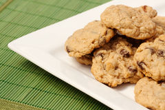 Plate of Cookies Stock Photos