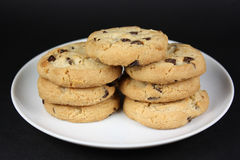 Plate of cookies. Stock Photography