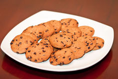 A plate of cookies Stock Image