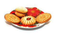 Plate with cookies Stock Image
