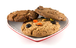 Plate of cookies Stock Images
