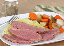 Plate of Corned Beef and Cabbage Stock Photos