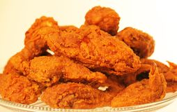 Plate of country fried chicken. Plate of delicious country fried chicken piled high Stock Photos