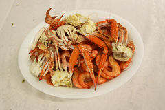 Plate of Crab Royalty Free Stock Image