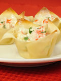 Plate of Crab Rangoons Royalty Free Stock Image