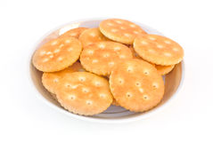 Plate with cracker Royalty Free Stock Photo