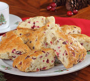 Plate of Cranberry Scones Stock Photography