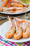 Plate of crayfish royalty free stock photography