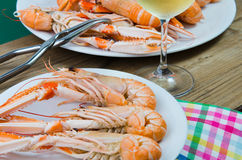 Plate of crayfish Royalty Free Stock Images