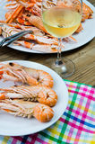 Plate of crayfish royalty free stock image