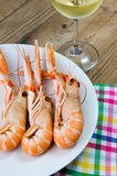 Plate of crayfish Stock Photo