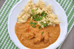 Hungarian chicken paprikash Royalty Free Stock Photos