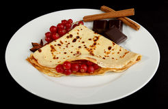 Plate of crepe Royalty Free Stock Photos