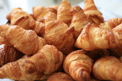 Plate with croissants Stock Image
