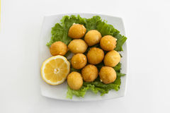 A plate with croquettes Royalty Free Stock Image