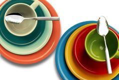 Plate, Cup, Colorful, Cover Stock Photo
